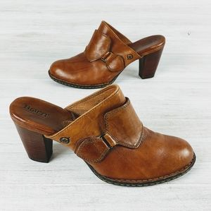 Born Leather Mule Heels